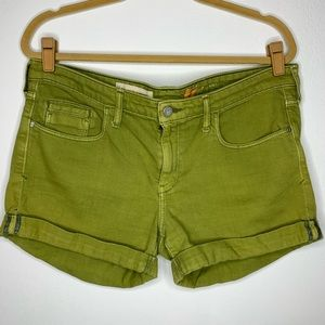 Anthro Pilcro & The Letterpress Green Denim Shorts